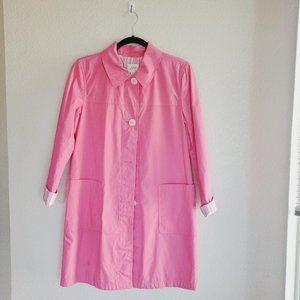 J. Jill Lightweight Pink Trench Coat S